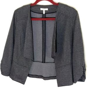 Maurices blazer size small open front black gray